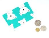 Green Blue Koala Coin Pouch, Lipstick Pouch, Ear Buds Pouch, Change Purse, Teachers Gifts, Small Fabric Purse, Australina Koala Zipper Pouch