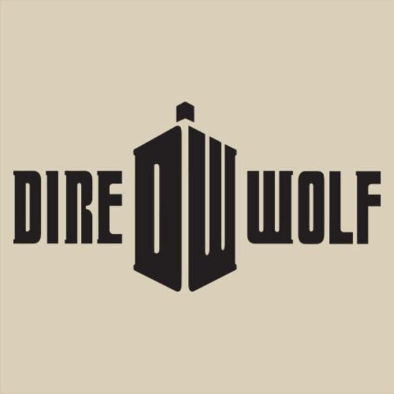 grateful dead dire wolf doctor black logo by jambandlotshirts