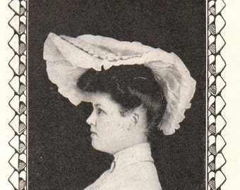The Designer / A Corn-Shuck Hat by Mary Dudley PDF / Early 1900's