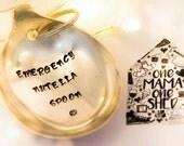 Emergency Nutella Spoon - Personalised Keyring Keychain - Hand Stamped Engraved Spoon - Vintage Spoon - Nutella Gift