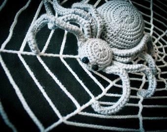Halloween crochet spider. Halloween crochet spider web. Crochet spider. Photo props