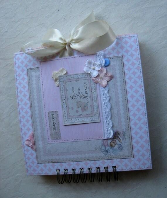 Baby Album, Personalised Baby Girl Photo Album, Baby's