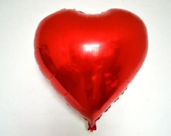 BIG 30 inch Red heart balloon.  red foil valentines balloon, valentines decoration, valentintes balloon, heart balloon