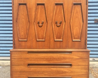 Mid Century Modern Tall Chest of Drawers Dresser