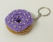 Keyring Crochet Donut, Gift, Amigurumi