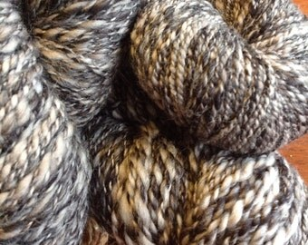Handspun Yarn - Wool and acrylic blend worsted weight
