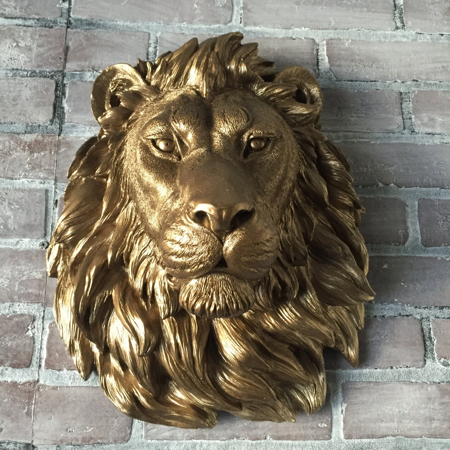 any color or bronze large african lion head wall mount. Black Bedroom Furniture Sets. Home Design Ideas