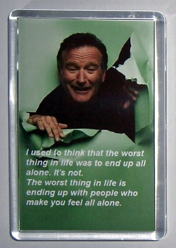 Robin Williams Quote movie poster fridge magnet