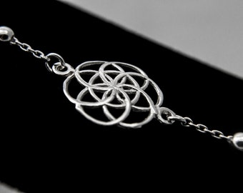 Sterling Silver Infinity Circle Bracelet