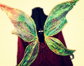Iridescent Faery wings for cosplay womens fairy wings ladies bridal faerie wings costme accessory custom made magical wedding wings