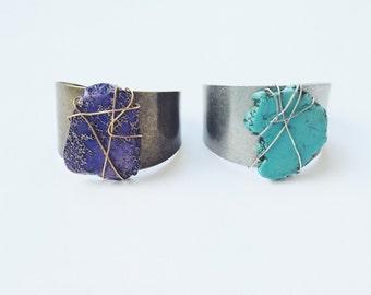 B A R R O N | Turquoise cuff | Stone cuff