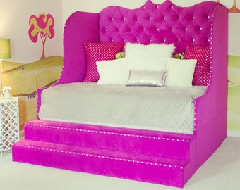 Tufted daybed with storage steps, storage daybed, Diana