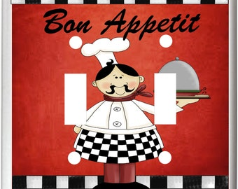 Fat Chef Bon Appetit k1 Light Switch Cover Plate Kitchen Home Decor  Free Shipping in U.S.!!!