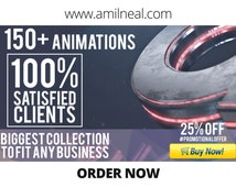 3D or 2D logo animation or logo reveal or youtube intro (unlimited samples) Motion Graphics