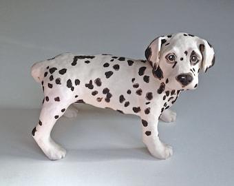 "Pet Memorial, Pet Portrait, Dog Portrait, Dog Art, Gifts for Dog Lovers, Clay Sculpture, Dog Memorial, Custom Dog Sculpture, Dalmatian 10"""