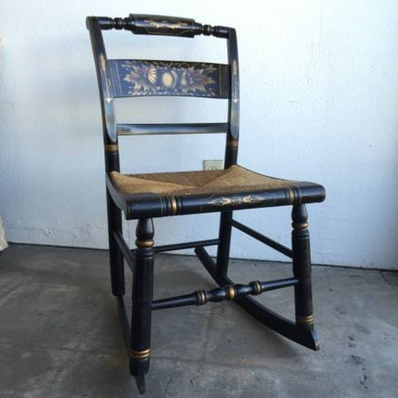 Vintage Rocking Chair, Hitchcock Chair, Small Rocking Chair, Old ...
