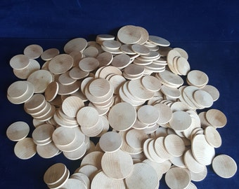 2.5 pounds wood craft discs two sizes