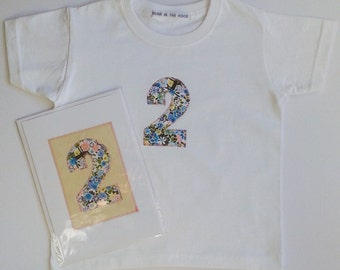 2nd Birthday T-Shirt and Card