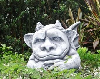 Say Cheese!   Gargoyle in garden photograph