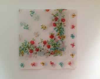 Vintage Floral Handkerchief