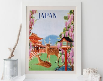 japanese travel poster art deco travel poster japan travel poster wall art frame ready ikea ribba size japanese wall art