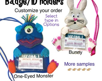 Customize your Badge Holder ID holder with lanyard
