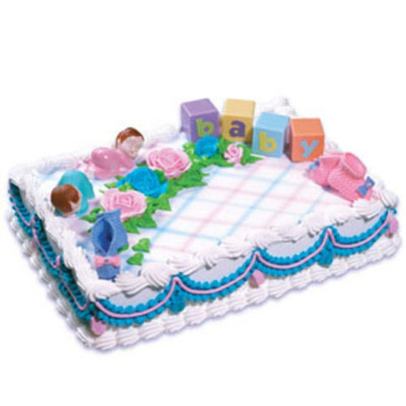 Cake Decorating Kits For Baby Shower : Twins 2 Baby Shower Cake Decorating Kit Party Supplies Topper