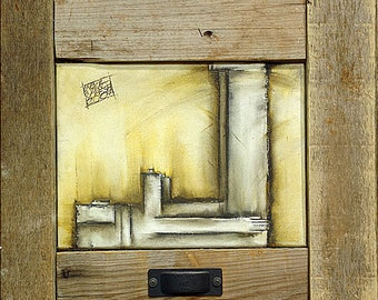 Oil on Canvas Original Signed Painting by Inbal Buzaglo Yoresh Laying Down