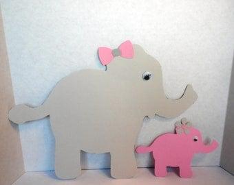 Mommy Elephant and Baby Elephant Mommy Elephant and Baby Elephant Die Cut, Elephant Die Cuts, Die Cuts, Scrapbook Die Cuts, Paper Die Cuts