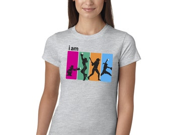 I Am Softball Grey Juniors Longer Length T-Shirt