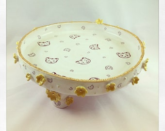 Cat Peek a Boo- cake stand