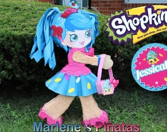 Shopkins pinatas,  Jessicake or Lippy lips.!