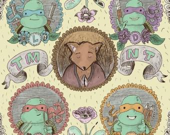 Teenage Mutant Ninja Turtles art print on recycled paper