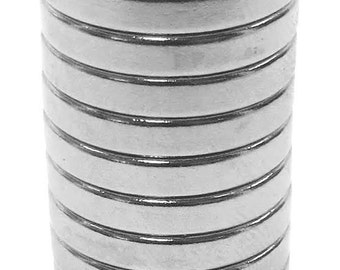 3/4 x 1/8 x 1/8 inch (19.1 x 3.2 x 3.2 mm) Craft/Jewelry Neodymium Rare Earth Magnetic Rings, Strong Ring Magnets, N48 (10 Pack)