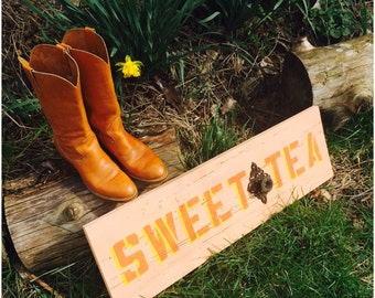 Sweet Tea: Functional, Vintage Farm Sign