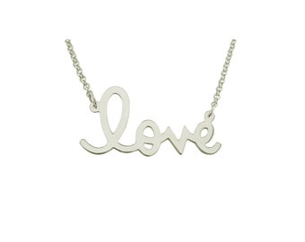 "Love03b - Sterling Silver .85"" Love Necklace"