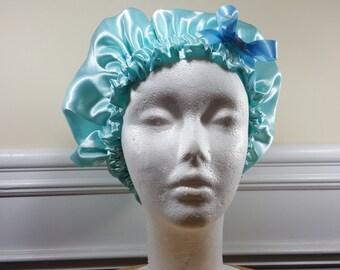 Light Blue Single Side Bonnet - Girls