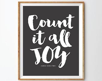 Count It All Joy Print
