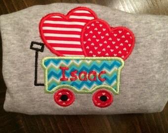 Valentines applique shirt