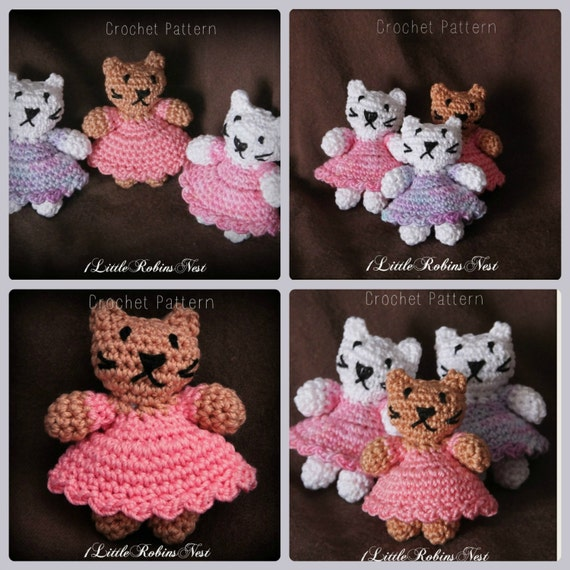 Amigurumi Kitty Mini : CROCHET PATTERN: Little Miss Kitty Amigurumi Crochet ...