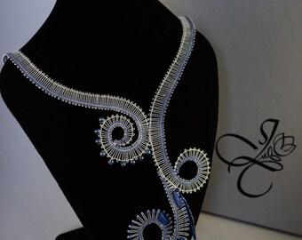 Waves Bobbin Lace Necklace