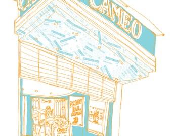 Cameo Cinema Building Edinburgh Scotland A3 Illustration Art Print