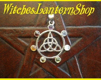 Triceps pendant, Celtic knot in the circle with crystals.