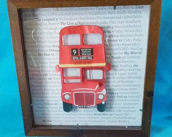 Routemaster Bus Red - 3D box frame