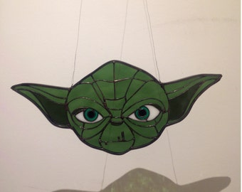 Yoda inspired glass piece