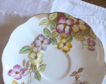 Royal Albert Demitasse Saucer Bone China 'Clematis' ~ Replacement China Mismatched China Small Saucer