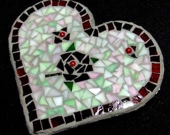 Mosaice Heart Wall Plaque