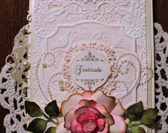 Gratitude, Thank you card, OOAK Thank you, Elegant Thank you, Special occasion Thank you