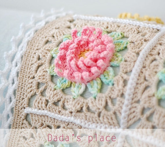 Crochet Patterns In English : CROCHET PATTERN: English Garden Baby Blanket pdf pattern