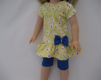 14.5 Inch Doll Clothes - Yellow and Blue Outfit